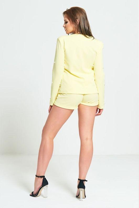Yellow Pearl Detailing Blazer