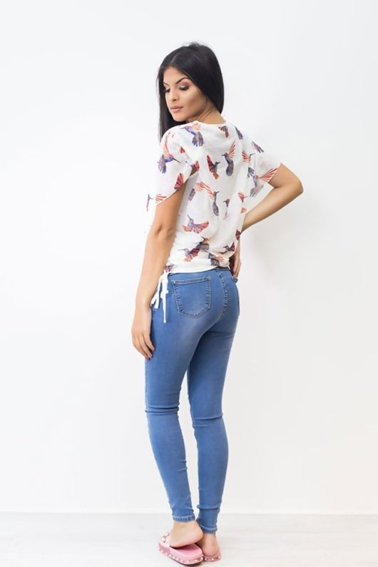 Light Fade Mid Rise Skinny Denim Jeans