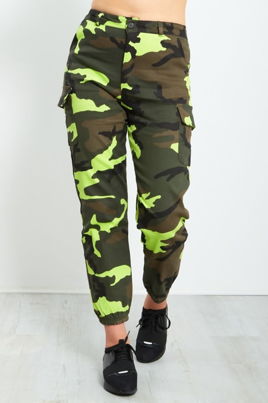Camo Pocket Detail Camo Trousers