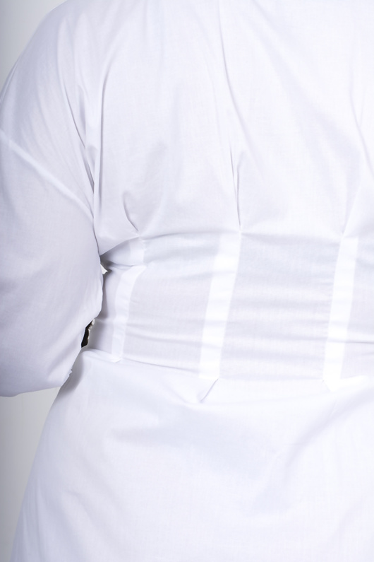 White corset detail shirt dress