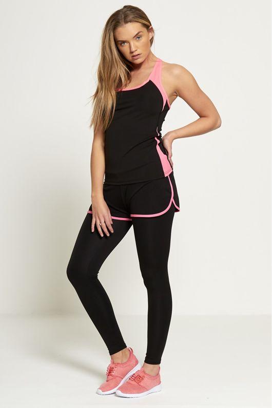 Pink Illuminous Shades Active Wear Vest Top