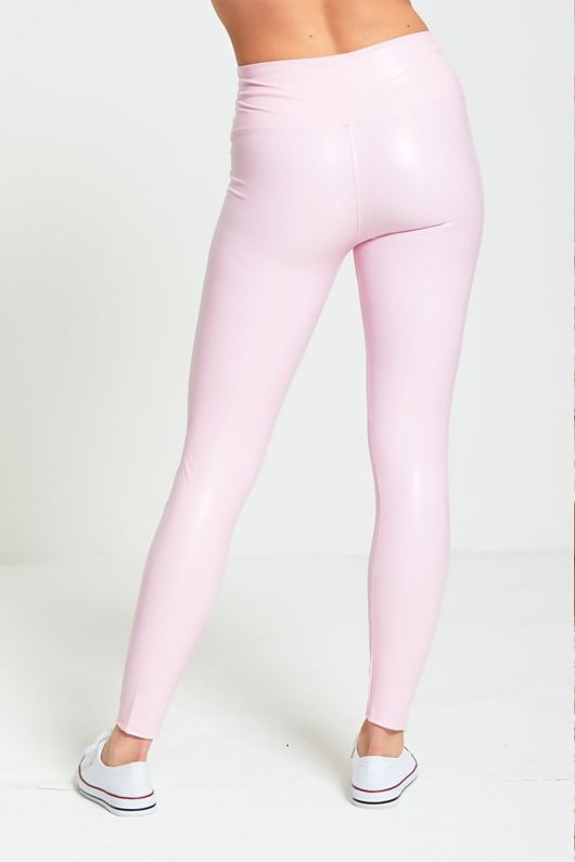 Pink High Waist Shine Leggings