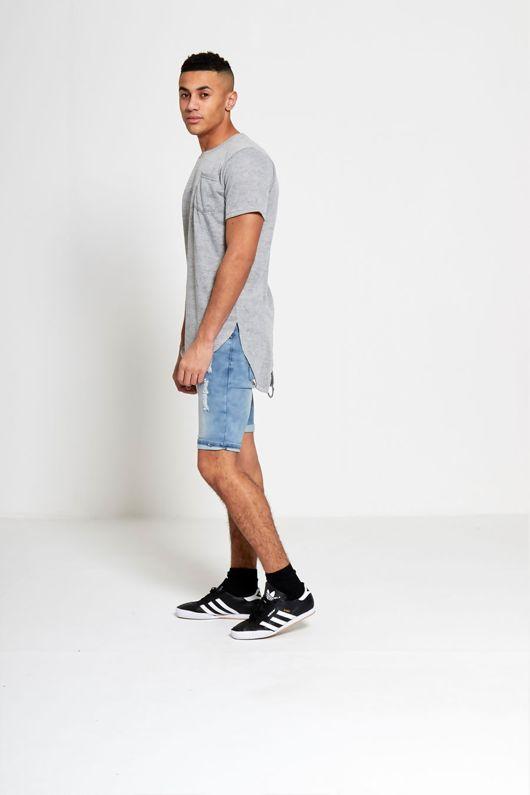 Grey Marl Fishtail T-shirt