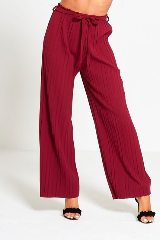 Wine Pleated Trouser