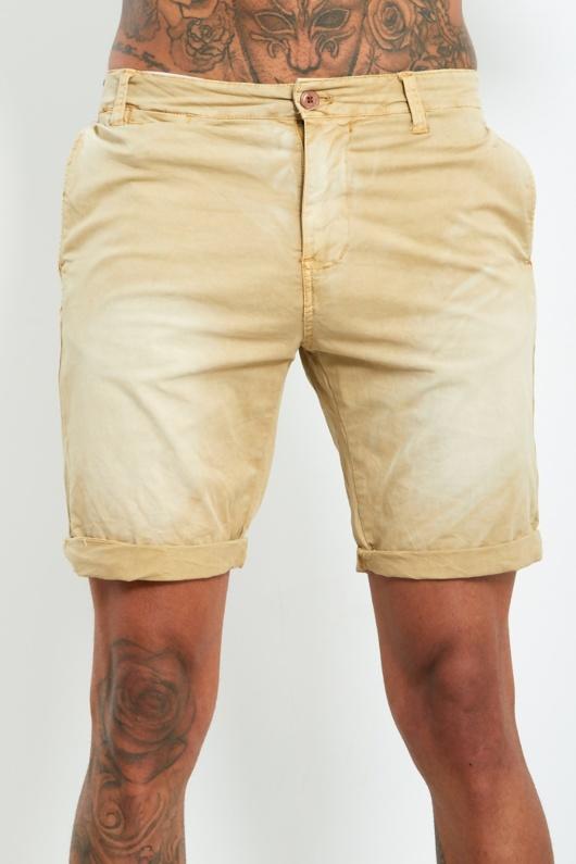 9002- Mens Stone Faded Turn Up Shorts