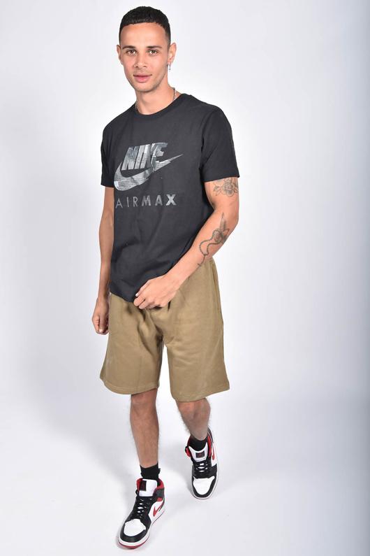 Mens Khaki Basic Jogger Shorts