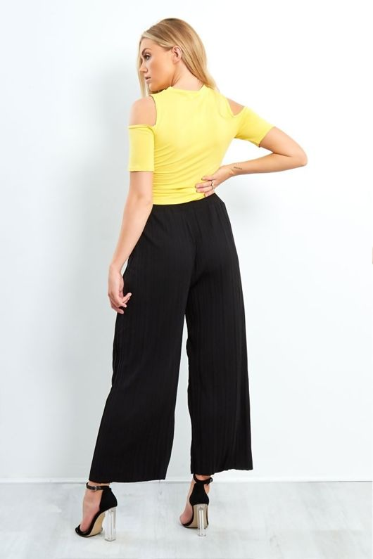yellow ever or forever slogan knot top