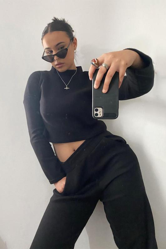 Black Super Soft Fleece Loungewear Set