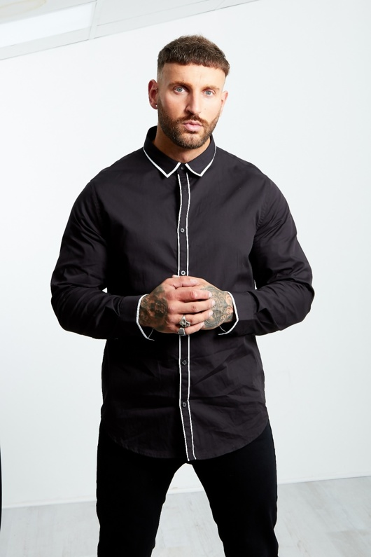 Process Black Monochrome Long Sleeve Shirt