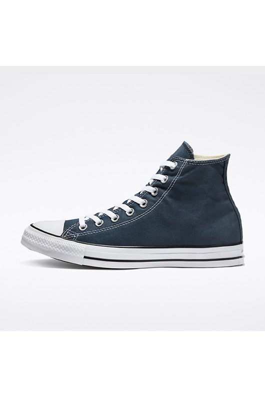 Navy High Top Canvas Trainers
