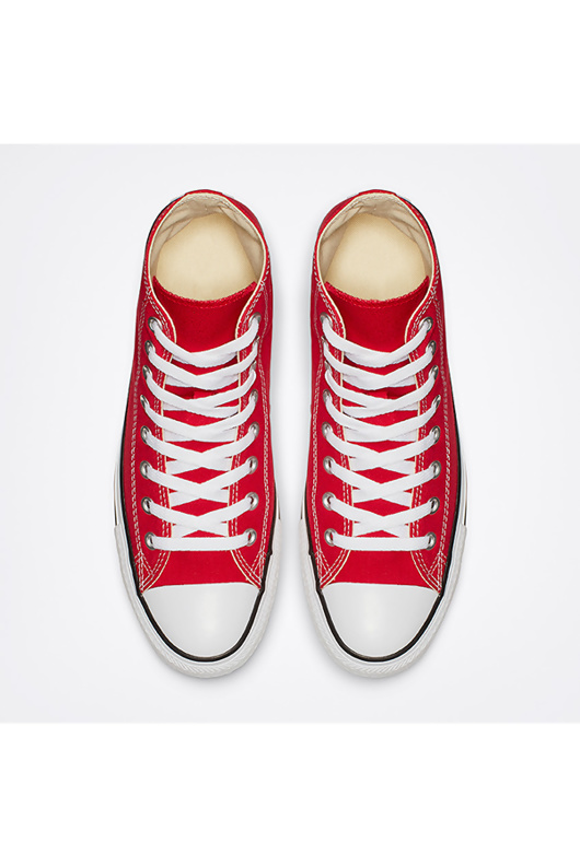 Red High Top Canvas Trainers