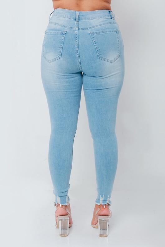 Chloe Brockett Light Wash Hem Skinny Jeans