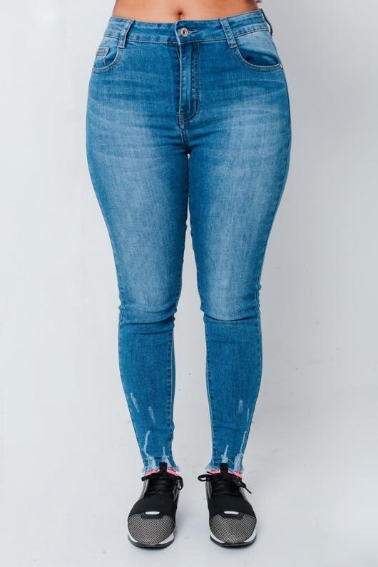 Chloe Brockett Mid Wash Hem Skinny Jeans