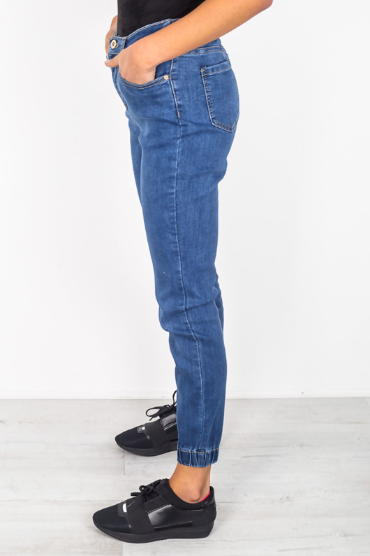 DARK DENIM CUFFED BOTTOMS