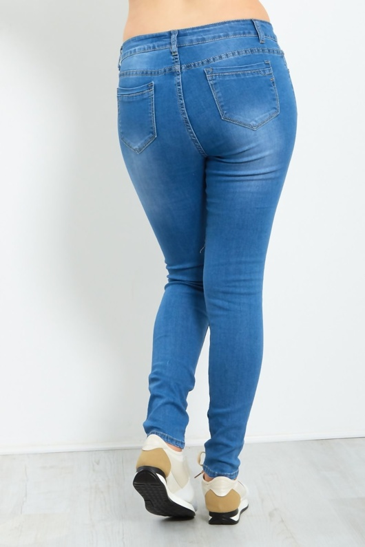 Ripped Knee Detail Skinny Denim Jeans