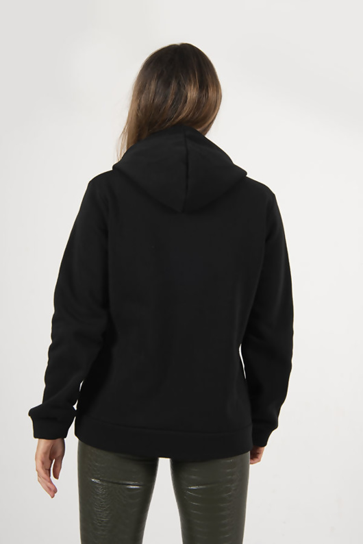 Black Oversized Pullover Mask Hoodie