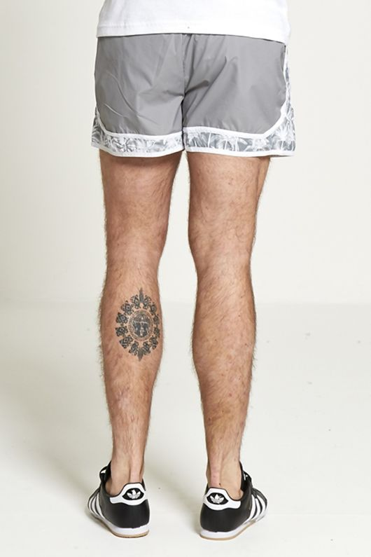 mens palm tree print swim shorts from brave soul