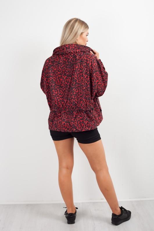 Red Leopard Print Festival Jacket