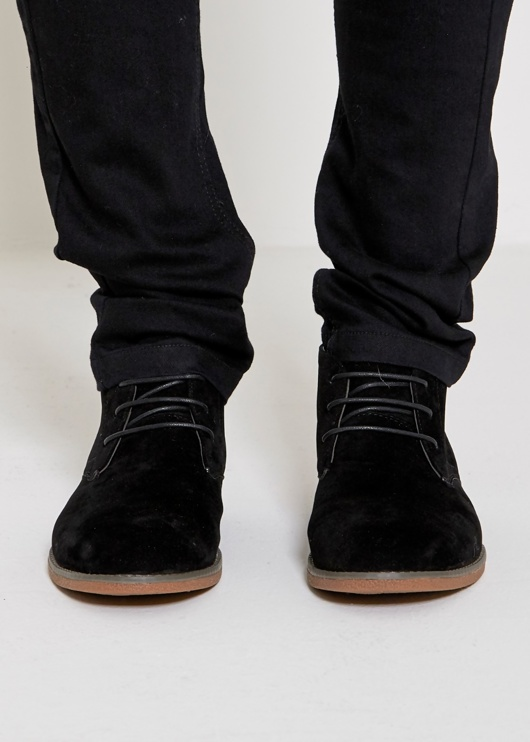 Mens Camel Suede Casual Ankle High Top Boots