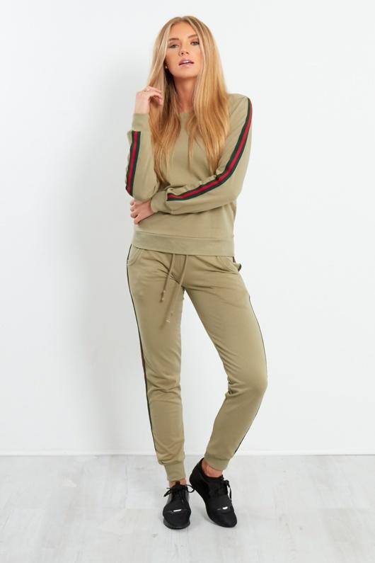 Khaki Tape Loungewear Set