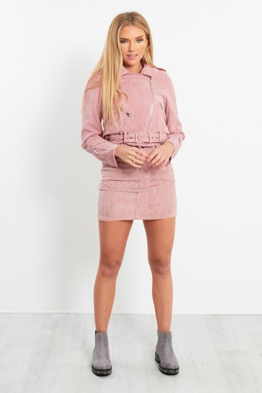 Dusky Pink Corduroy Jacket