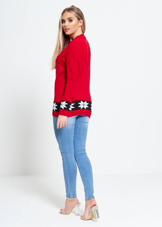 Red Ho-Ho Santa Hat Christmas Jumper