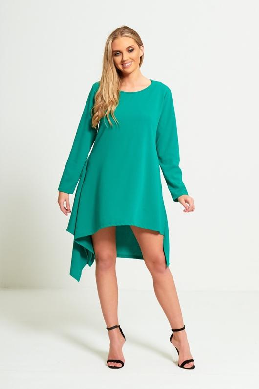 Green Asymmetrical Dress