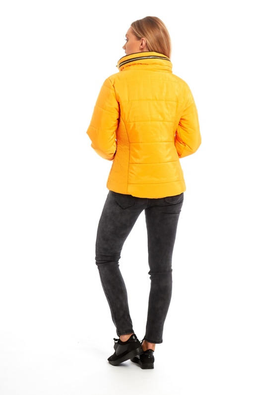 Yellow High Neck Padded Puffer Jacket