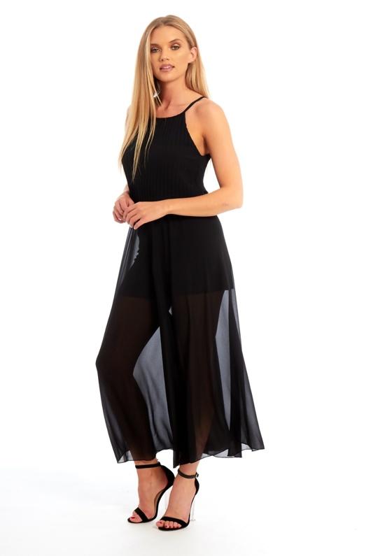 Black Ruffle Jumpsuit