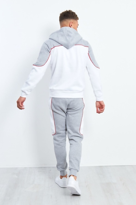Mens Navy And Red Blocked Pull Through Tracksuit Preorder