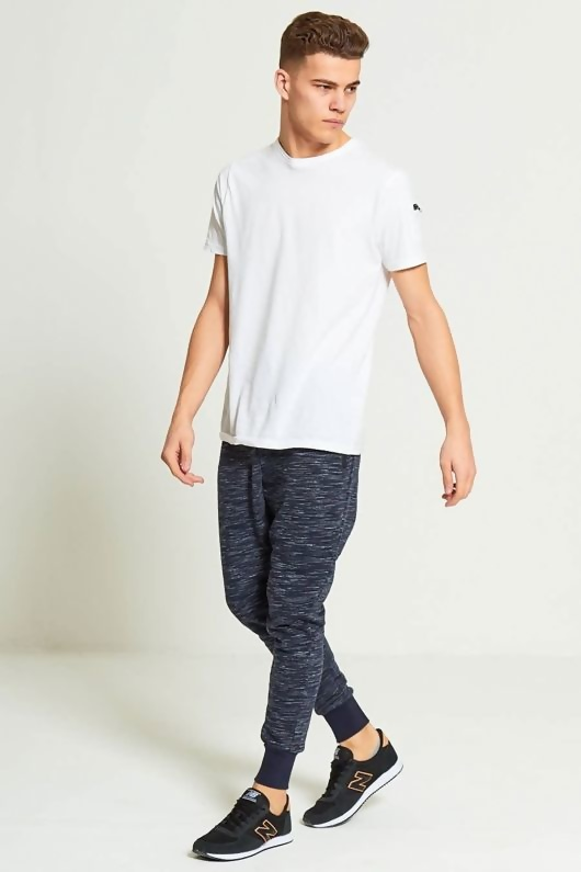 Mens Blue Marl Jogging Bottoms