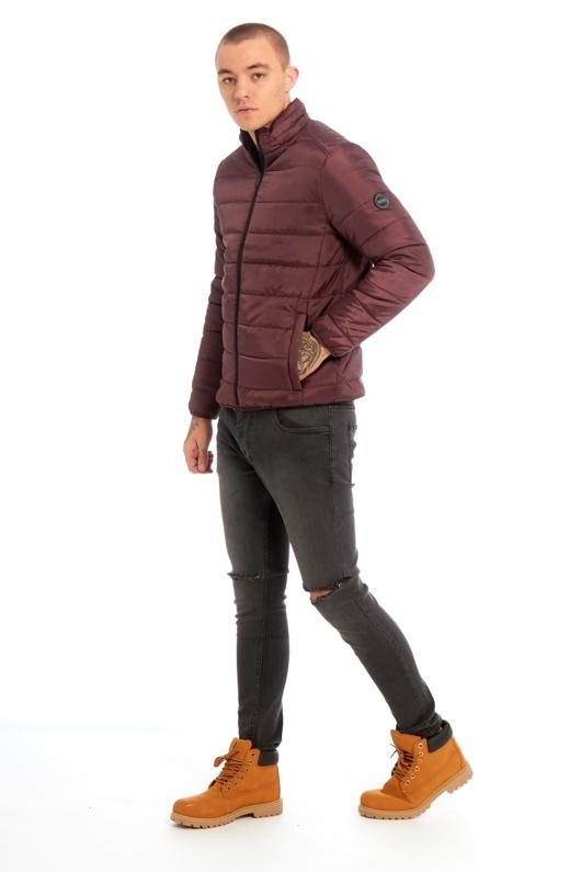 Mens Burgundy Puffer Jacket