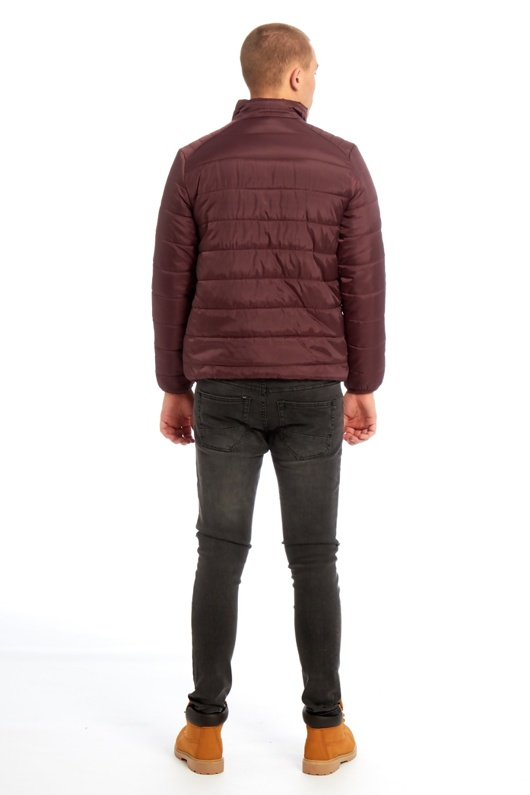 Mens Burgundy Puffer Jacket