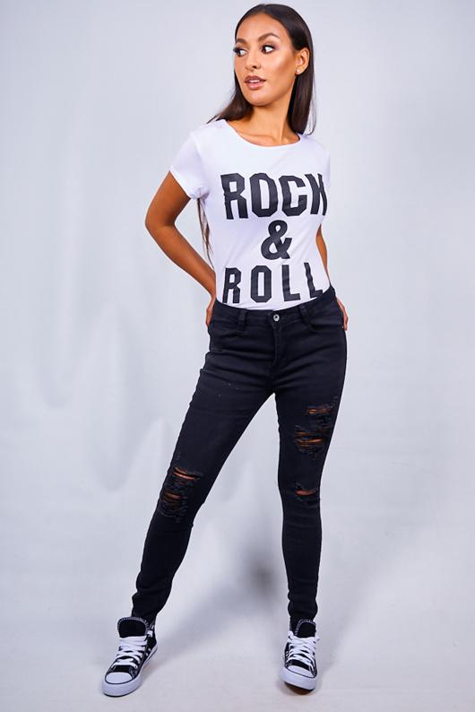 Black Extreme Rip Skinny Jeans