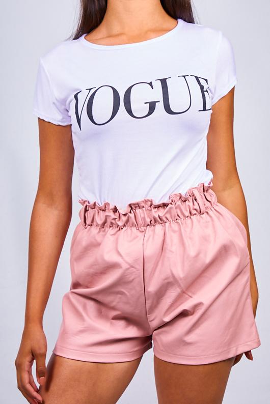 White Vogue Slogan T-shirt