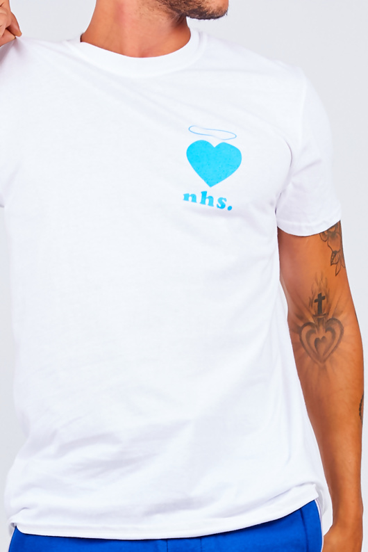 Mens White Love NHS Basic Tee