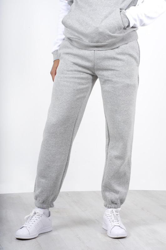 Mens Grey Basic Cuffed Joggers
