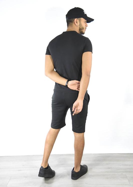 Black Tiger Logo T-Shirt And Shorts Set