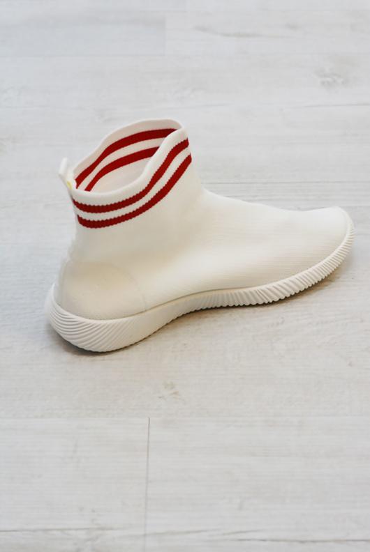 White Stripe Sock Trainer