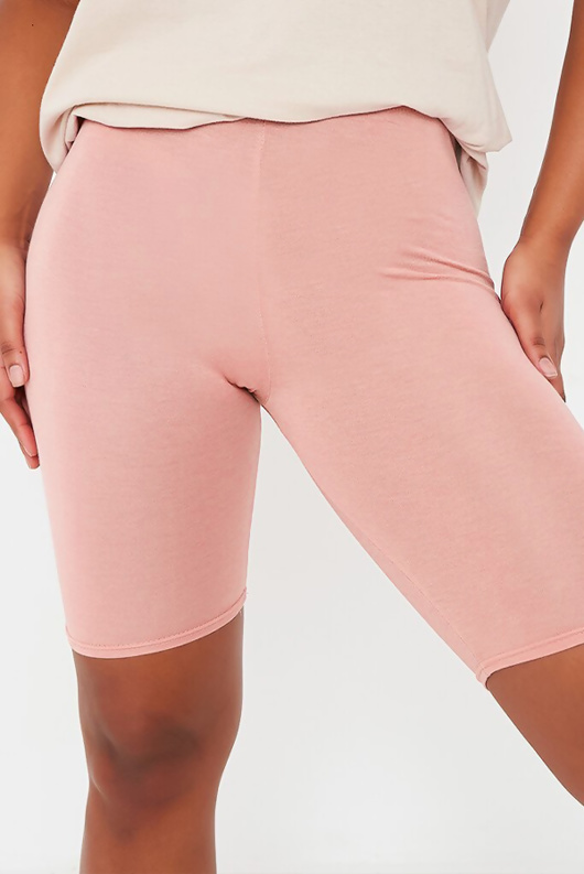 Baby Pink Basic High Waisted Cycle Shorts