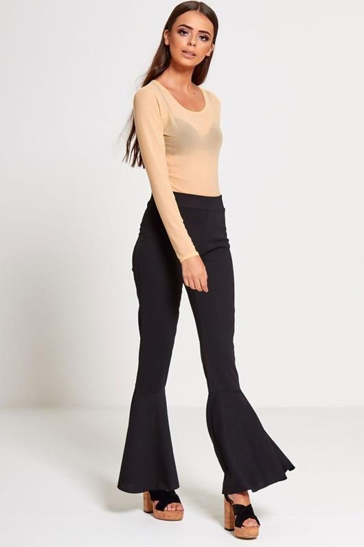 Black Flare Trouser