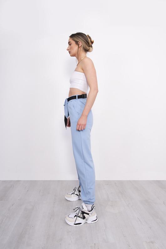 Light Blue Belt Bag Detail Joggers
