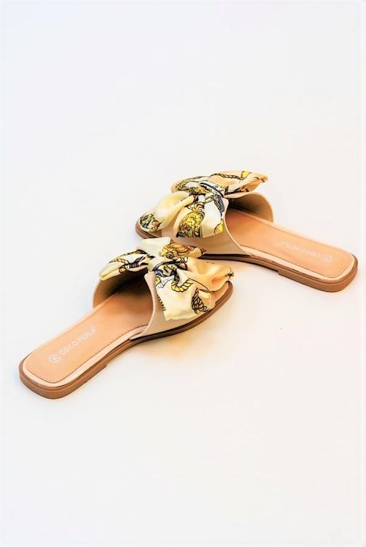 Blush Satin Ribbon Sandals