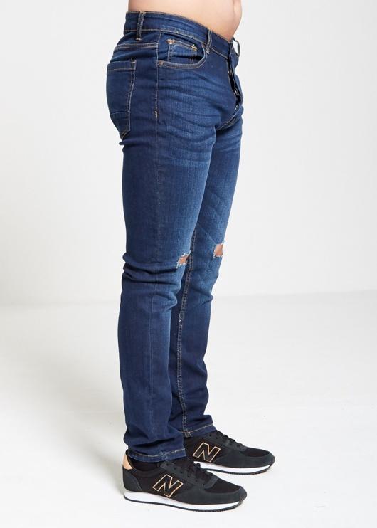 Mens Brave Soul Knee Ripped Straight Leg Jeans