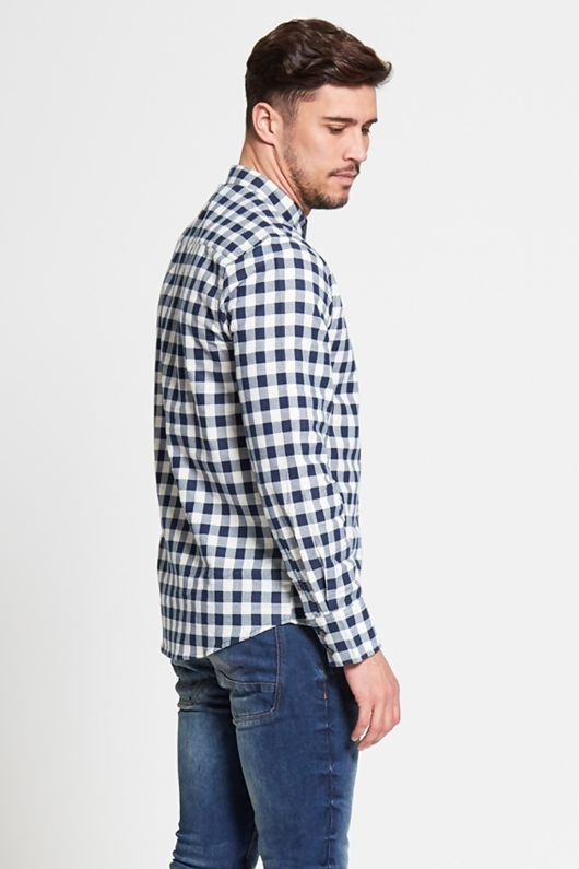 Mandrain Blue Checked Shirt
