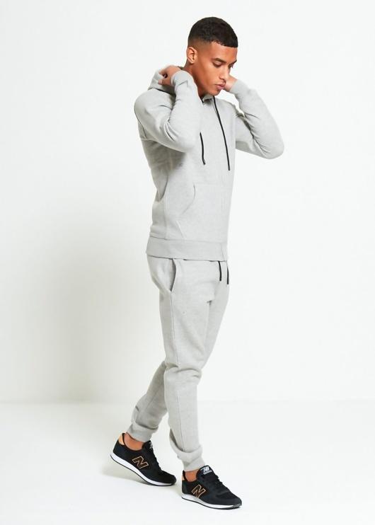 Mens Grey Block Hooded Tracksuit