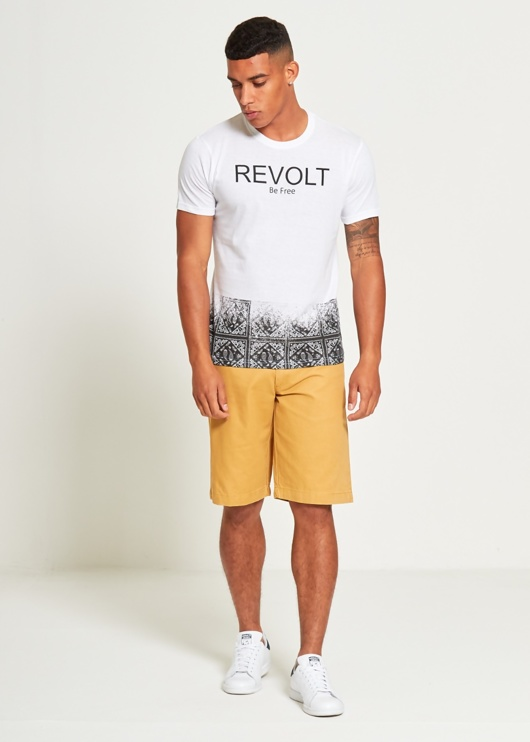 Mens Black Be Free Revolt T-Shirt