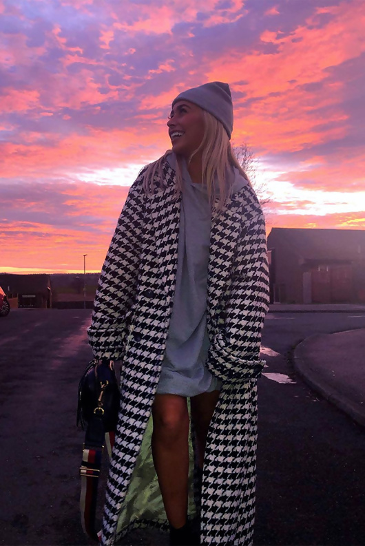 Grey Oversized Hoodie Dress