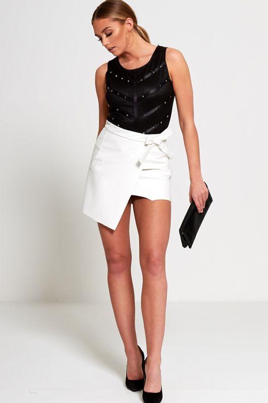 Black Bandage Studded Bodysuit