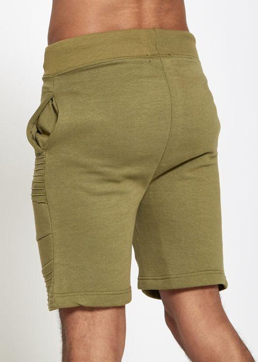 Mens Side Ribbed Sweat Shorts